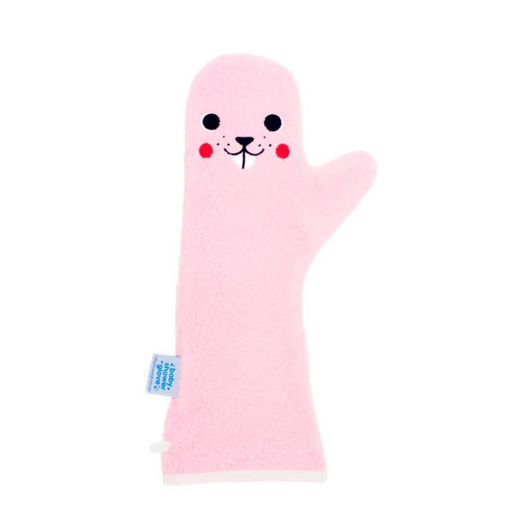 Invented 4 Kids baby shower glove roze bever, Roze bever