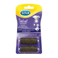Scholl  Velvet Smooth Elektronische Voetvijl - Navulling - Diamond Crystal Ultra Coarse - 2 stuks
