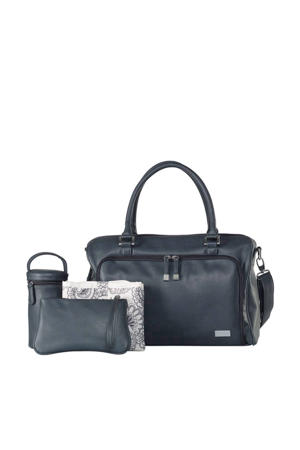 Double Zip Satchel luiertas balmain charcoal
