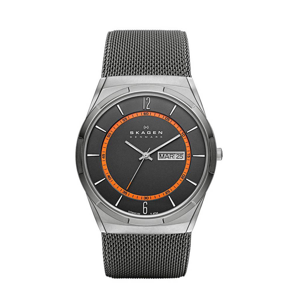 Skagen Melbye Heren Horloge SKW6007, grijs/ oranje