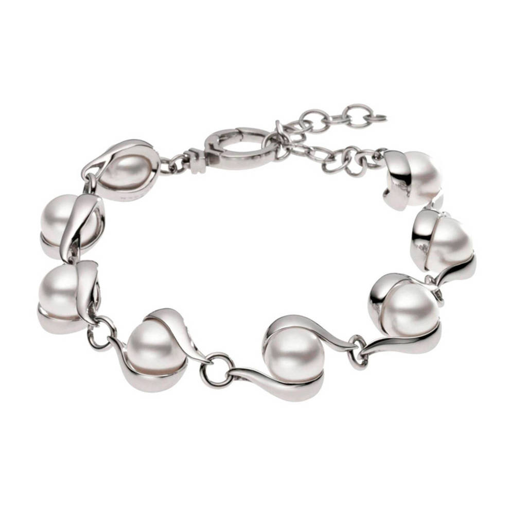 Skagen armband SKJ0092040, Zilver/ wit