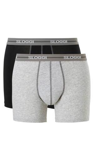 boxershort (set van 2) zwart/grijs
