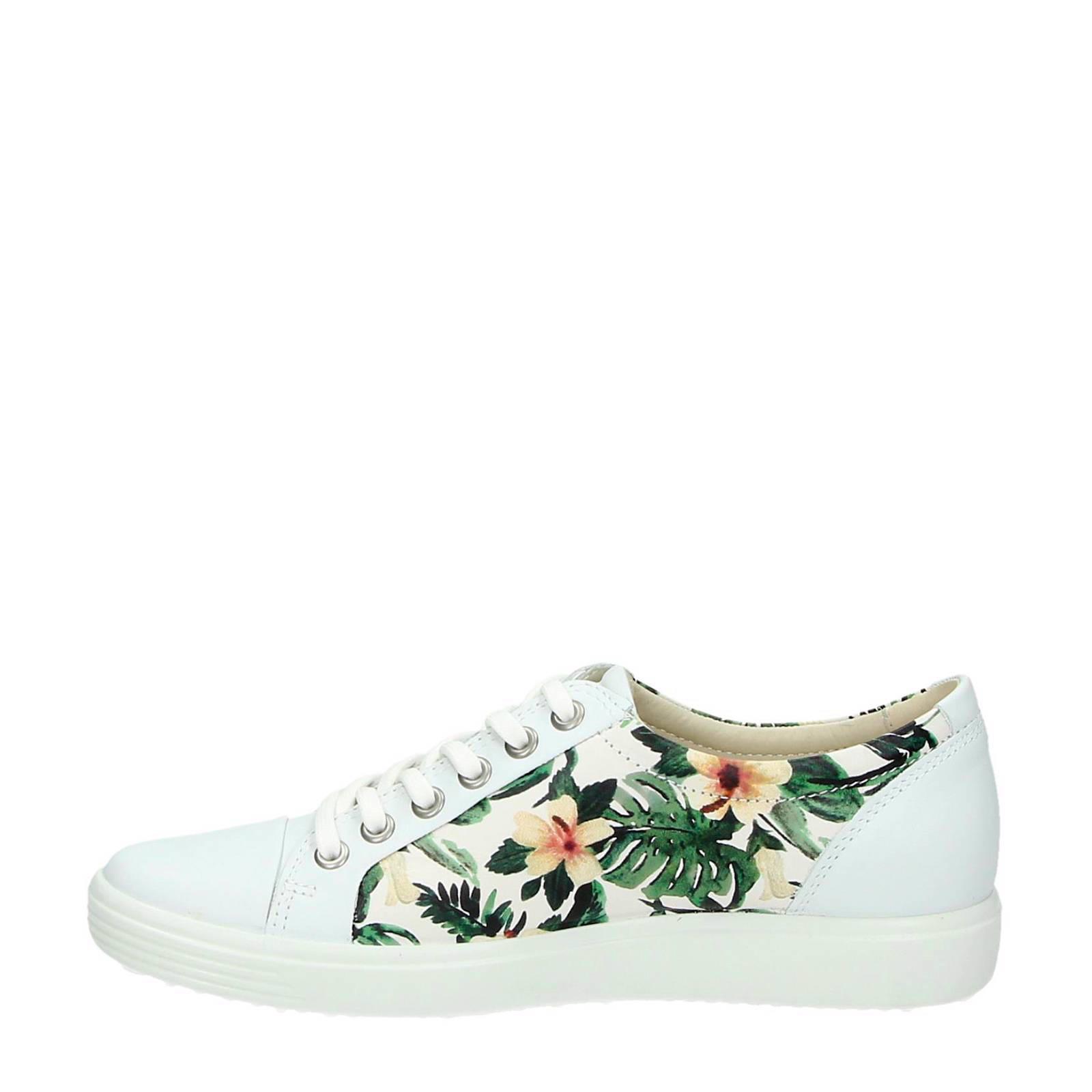 04f97c6ec61 Ecco leren sneakers met bloemen | wehkamp