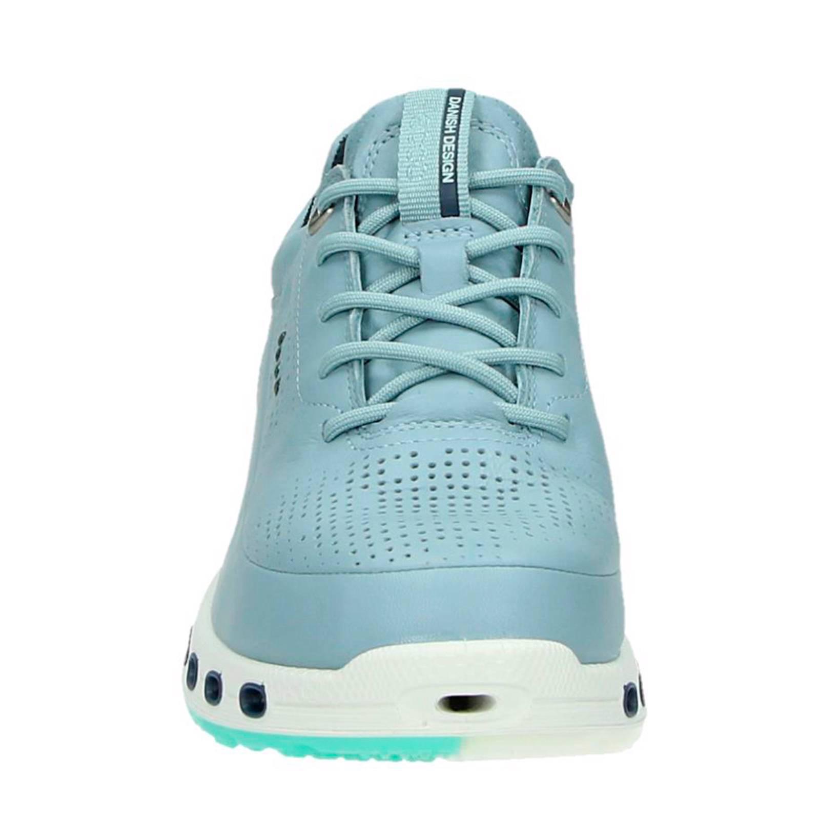 Ecco leren sneakers Cool 2.0 lichtblauw | wehkamp