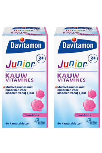 Junior 3+ kauwtabletten - Framboos 2x 60 stuks