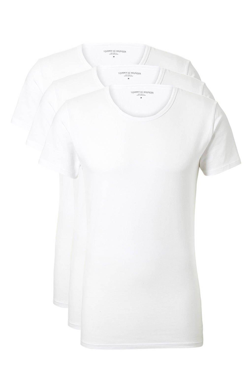 Tommy Hilfiger T-shirt (set van 3), Wit