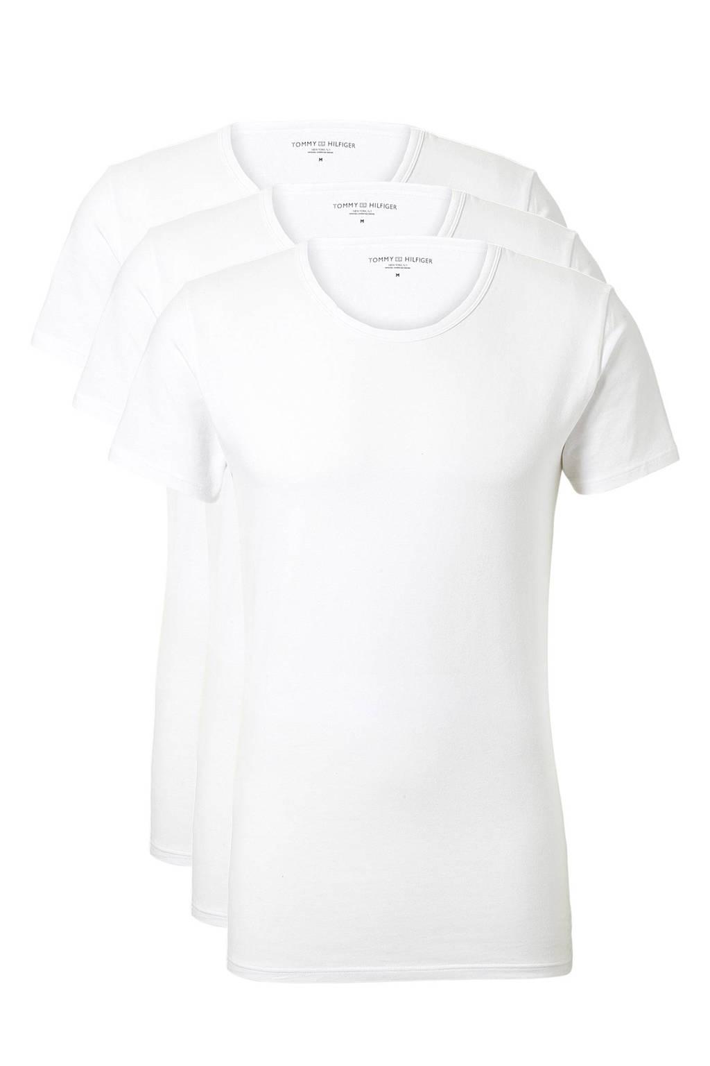 Tommy Hilfiger T-shirt (set van 3) wit, Wit