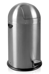 EKO Kickcan 33 liter pedaalemmer, Mat rvs
