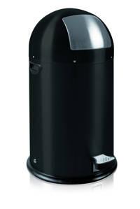 EKO Kickcan 33 liter pedaalemmer, Mat zwart