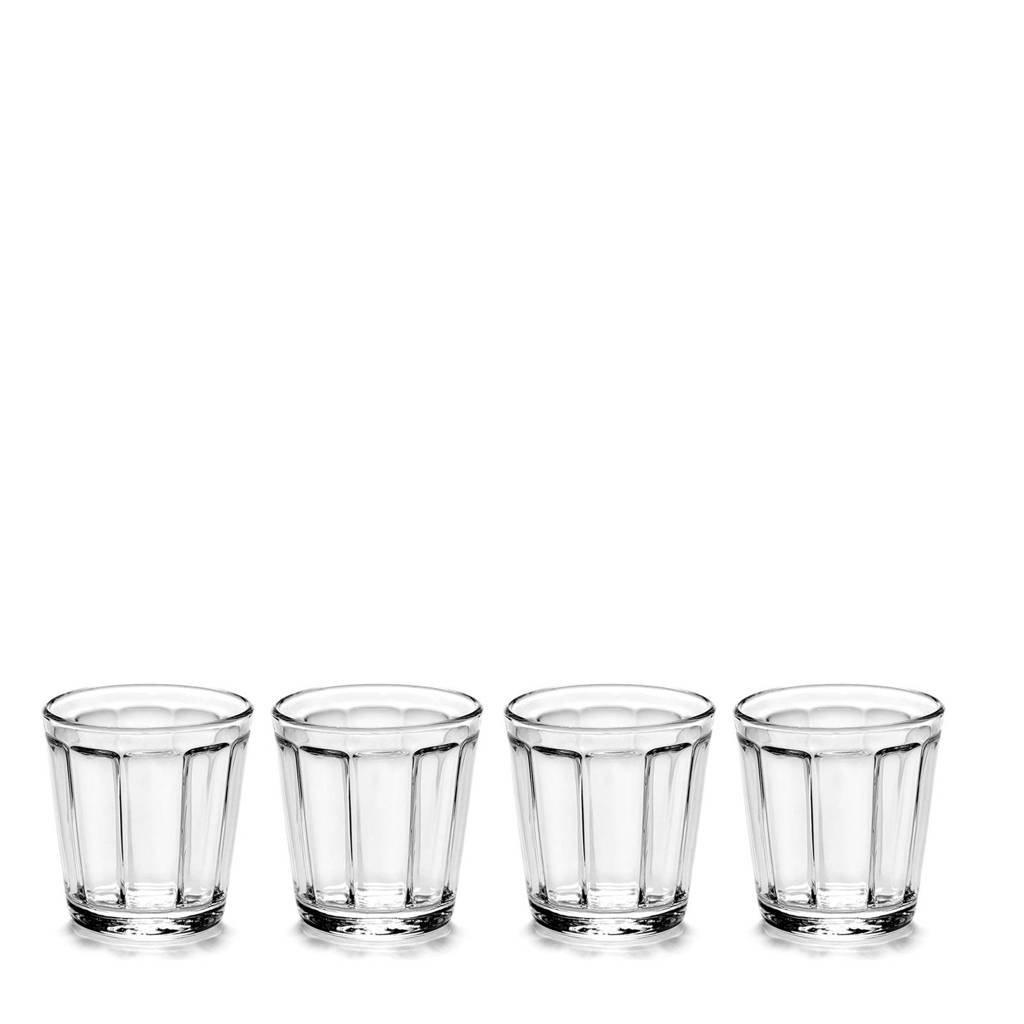 Serax Surface espresso glas (Ø6 cm) (set van 4), Transparant