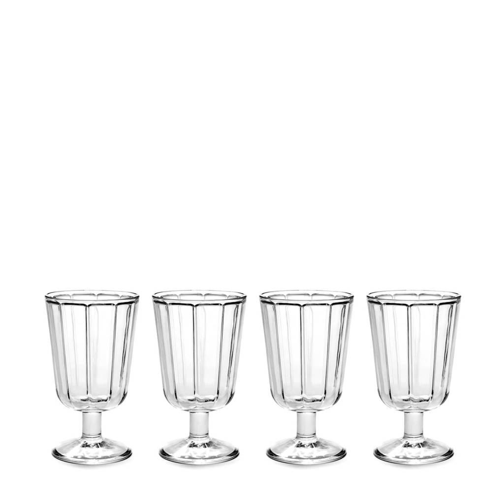 Serax Surface wijnglas (Ø8 cm) (set van 4), Transparant