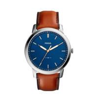 Fossil The Minimalist 3H Heren Horloge FS5304, Zilver