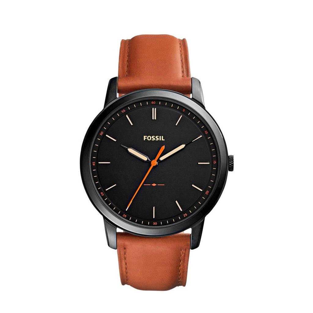 Fossil horloge The Minimalist 3H FS5305 zwart, Zwart