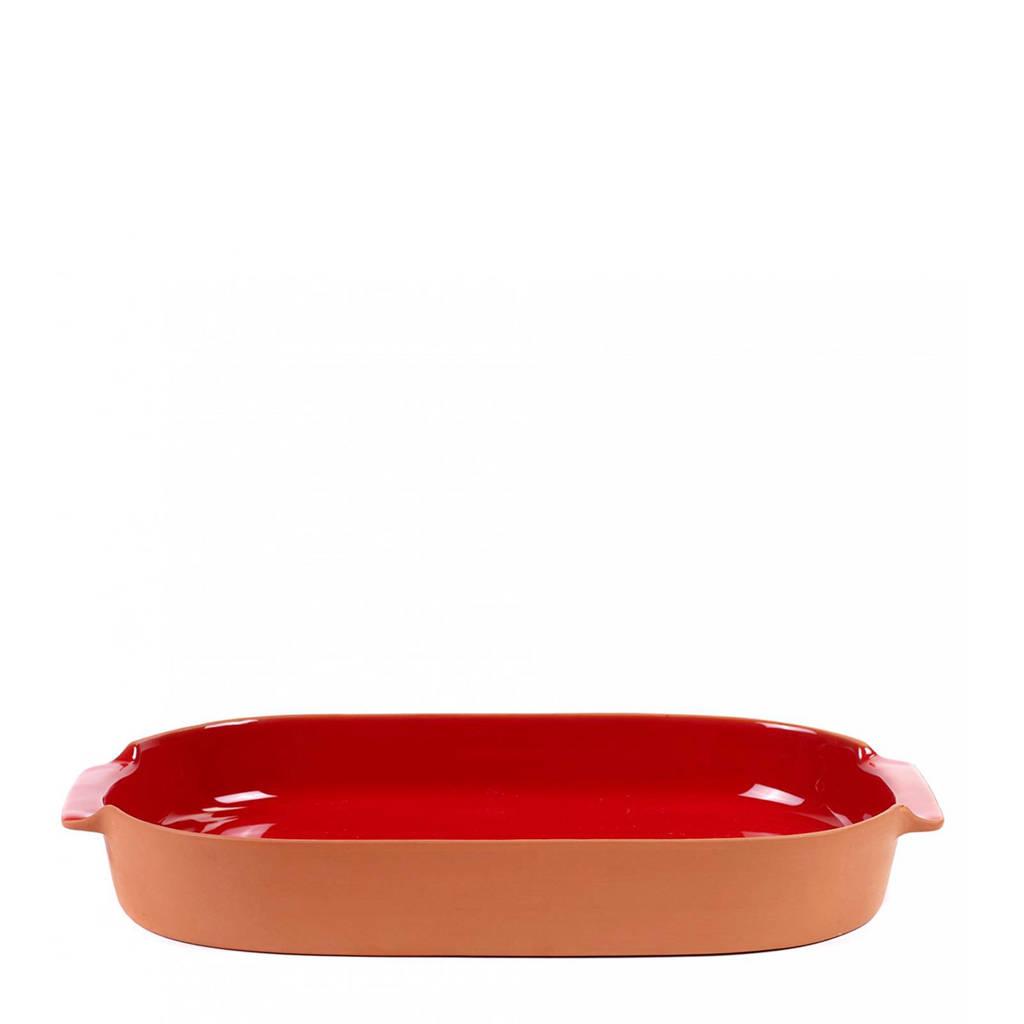 Jansen+Co Terra ovenschaal (26x45 cm), Rood