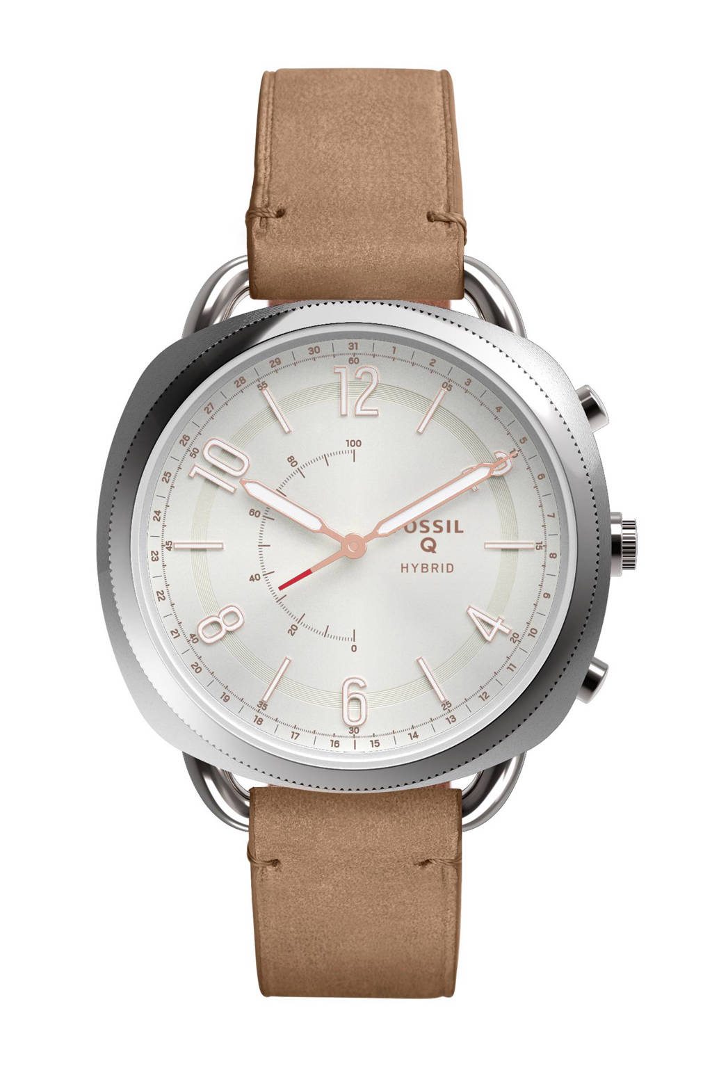 Fossil Q Accomplice hybrid watch, Zilver