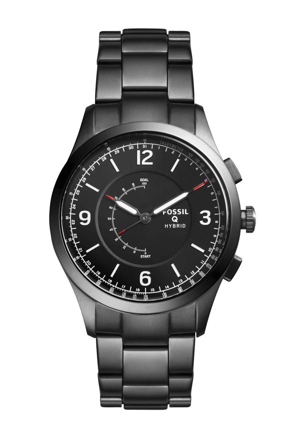 Fossil Q Activist heren Hybrid smartwatch FTW1207, Zwart/gunmetal