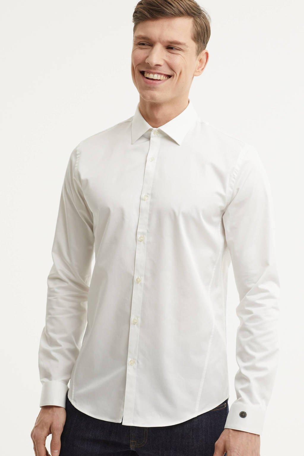 Cast Iron slim fit overhemd, Wit