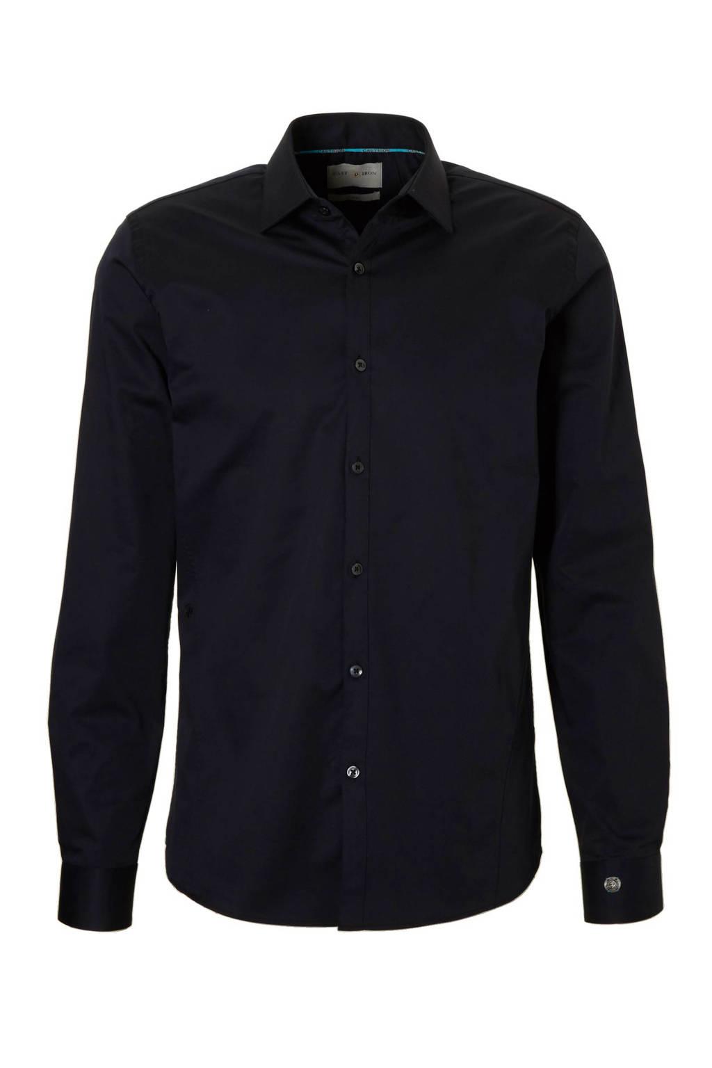 Cast Iron slim fit overhemd, Zwart