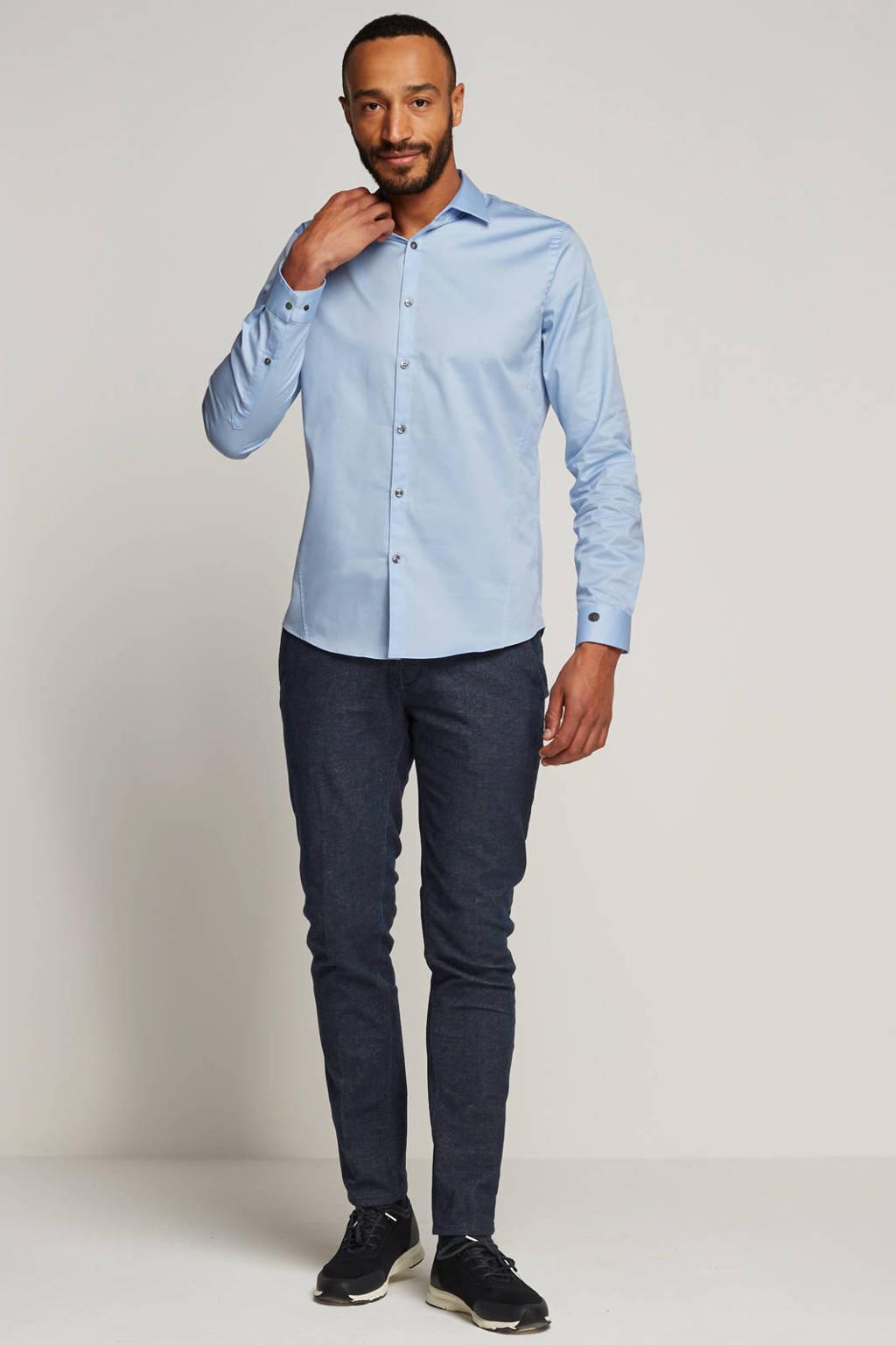 Cast Iron slim fit overhemd, Lichtblauw