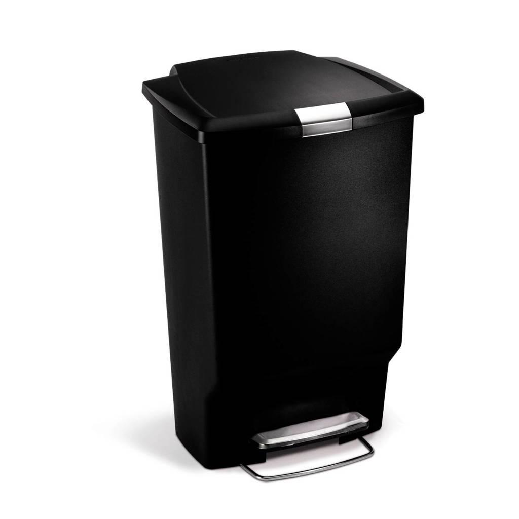 SimpleHuman  pedaalemmer Kunststof Rectangular 45 liter, Zwart