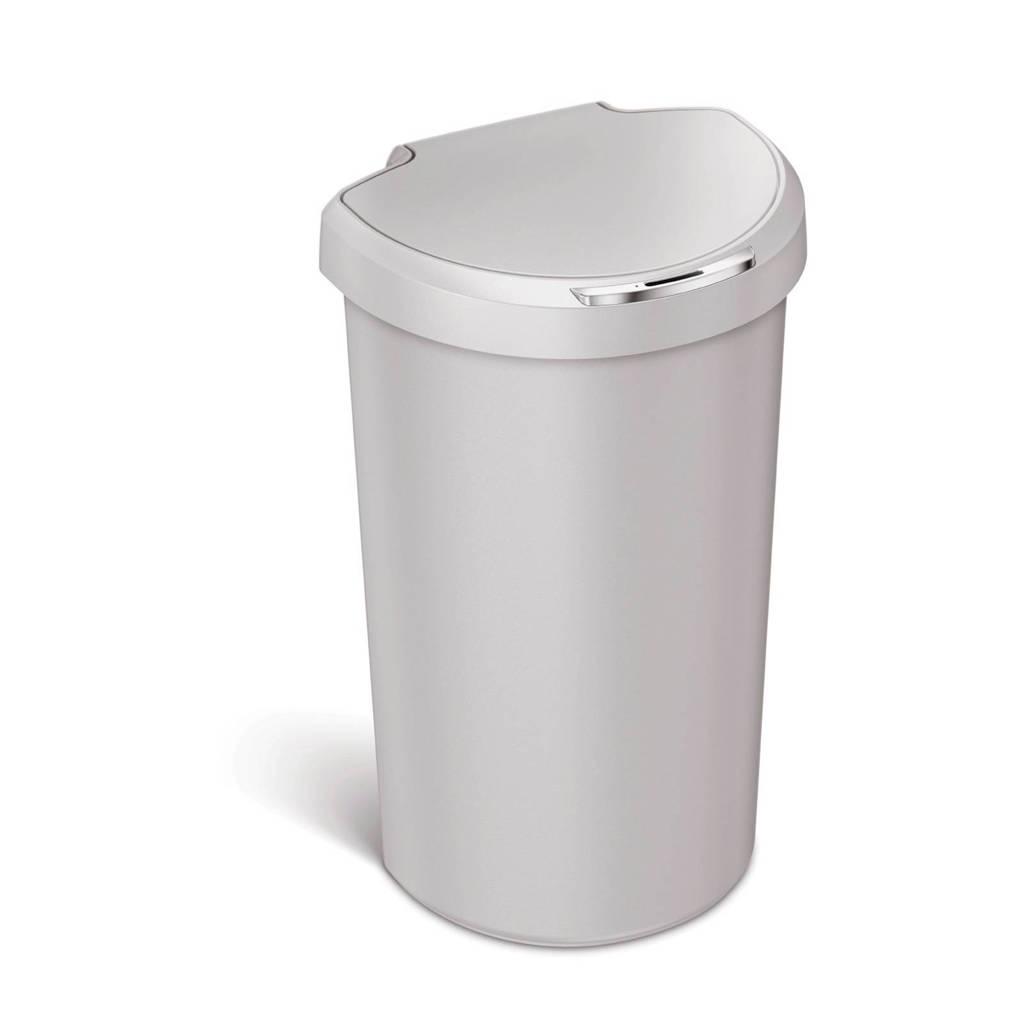 SimpleHuman  Afvalemmer Semi Round Kunststof Sensor 40 liter, Stone