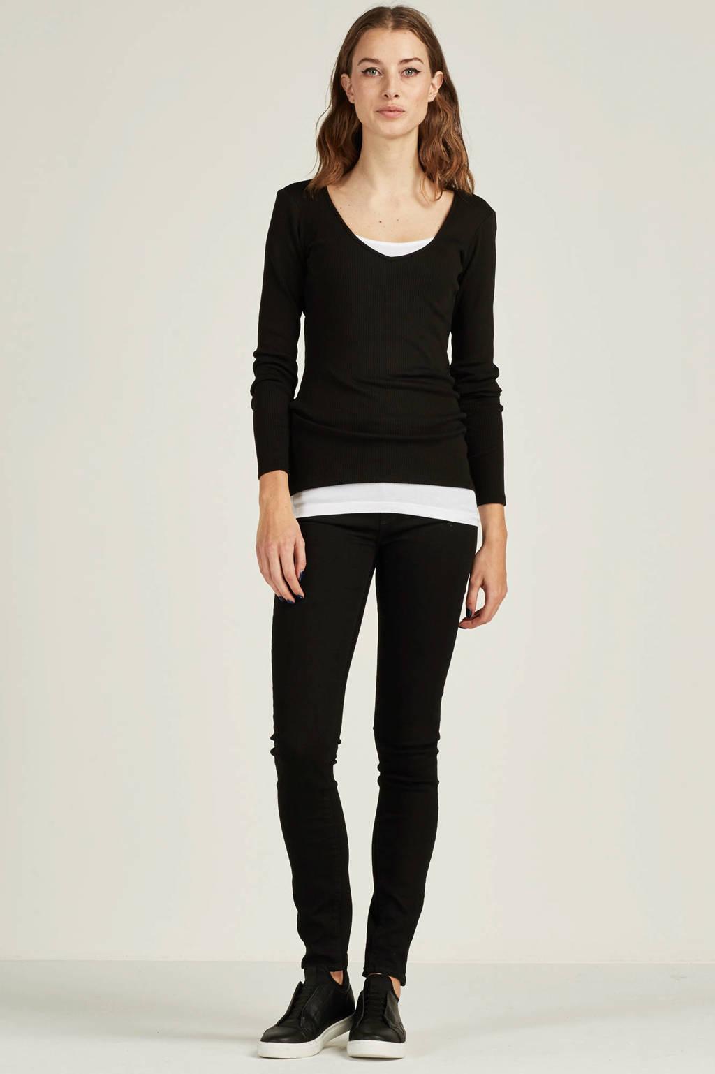 G-Star RAW 3301 Deconst High Skinny fit jeans, Zwart