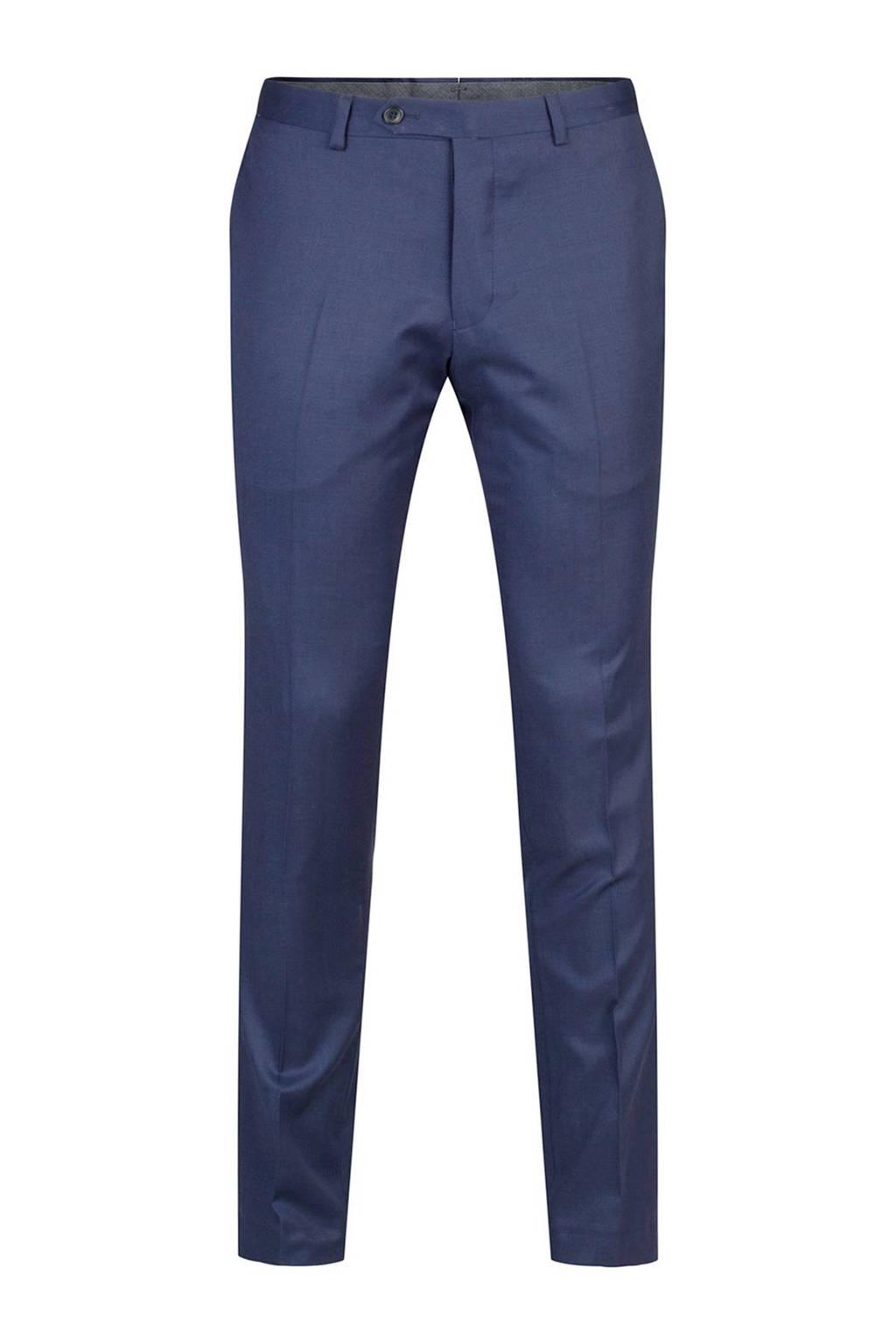 WE Fashion x Van Gils Dayton slim fit pantalon, Donkerblauw