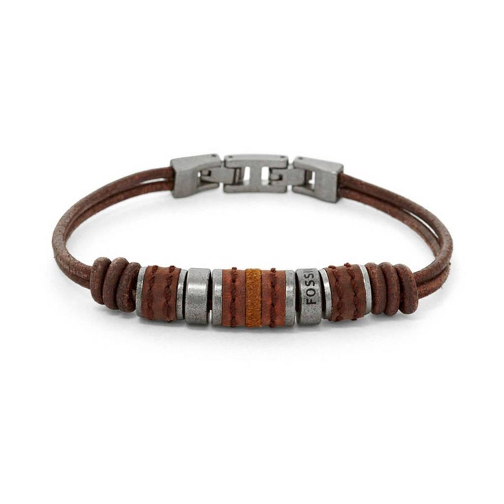 Fossil armband, Bruin