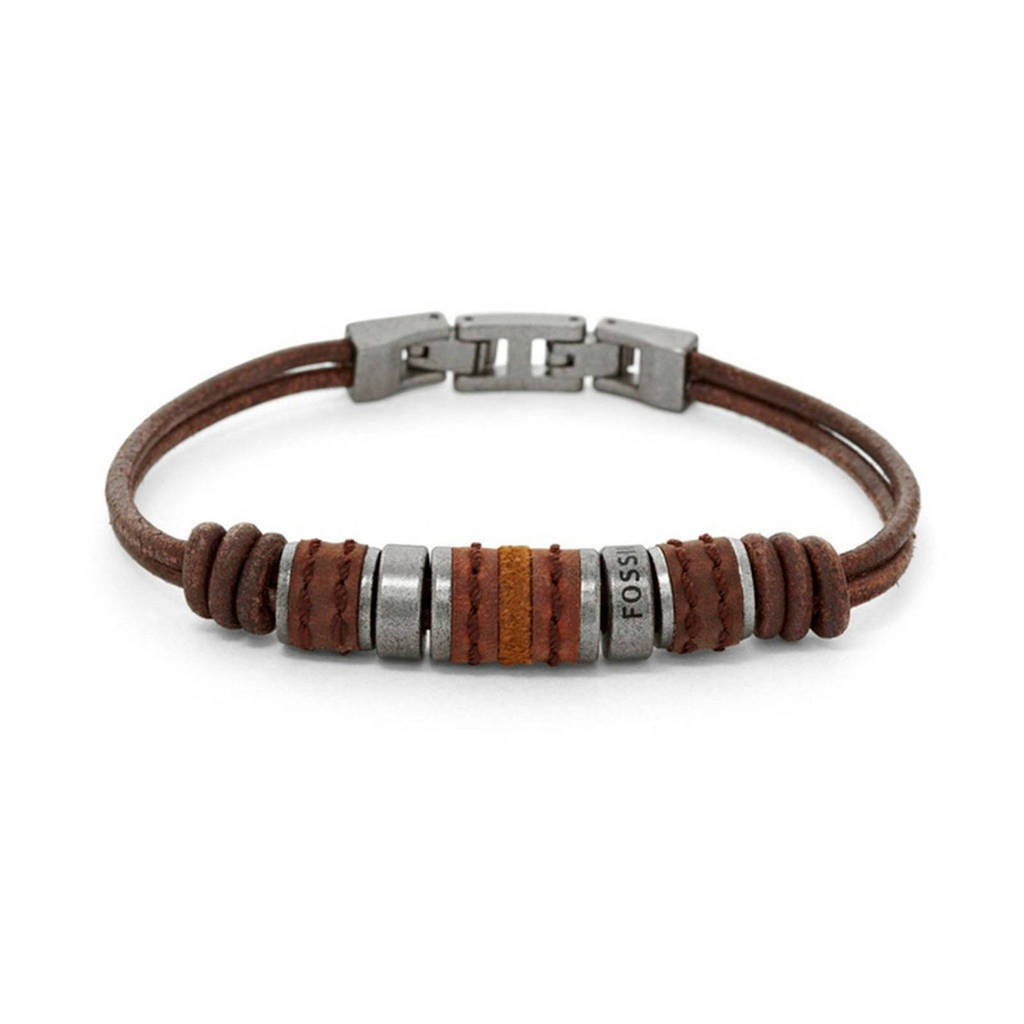 Fossil heren armband Vintage Casual JF00900797, Bruin