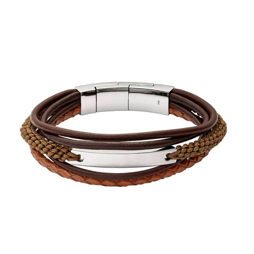 Fossil heren armband Vintage Casual JF02703040, Bruin