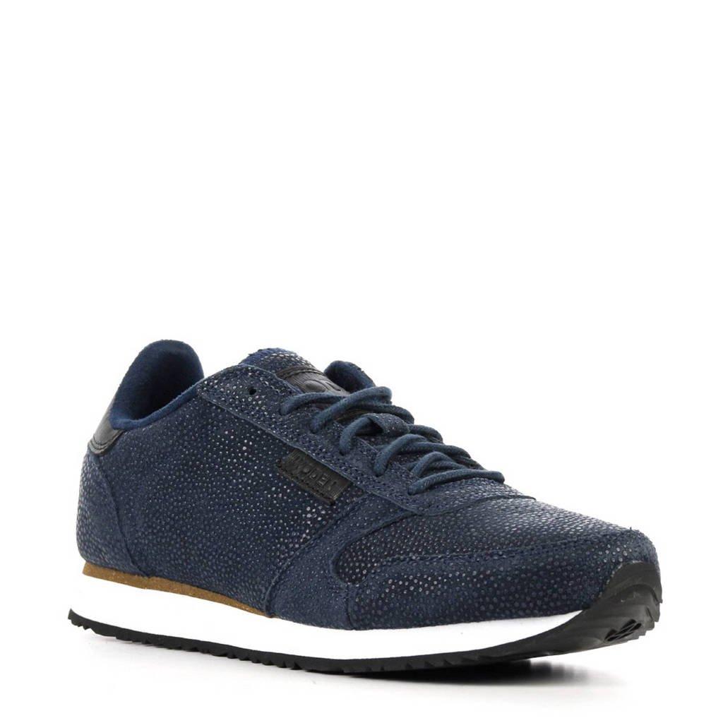 Woden  Ydun Pearl suède sneakers, Blauw