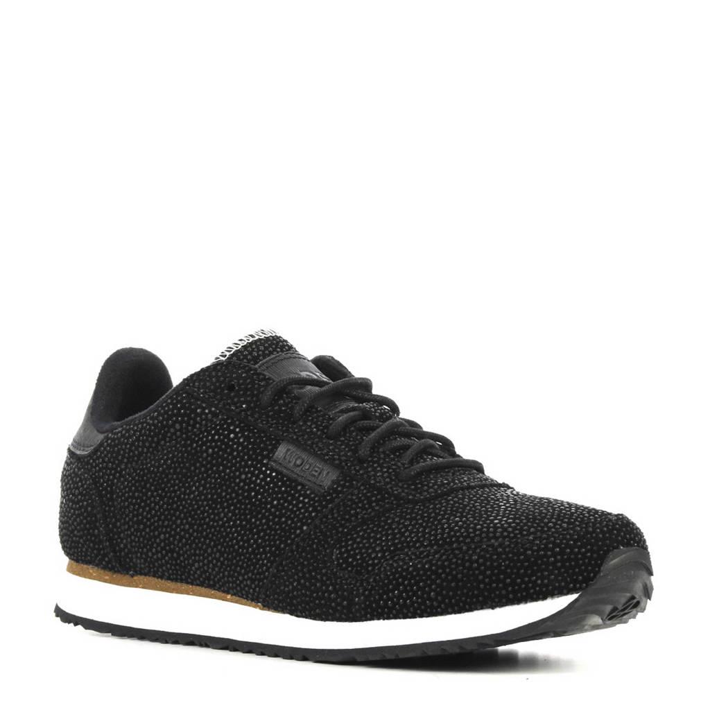 Woden  Ydun Pearl suède sneakers, Zwart