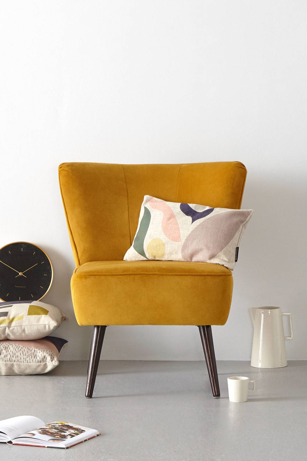 whkmp's own fauteuil Coco velours, Okergeel