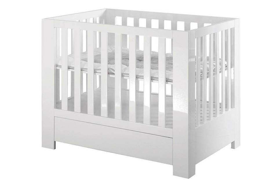 Kidsmill Alaska baby box wit, Wit hoogglans