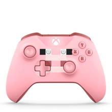 Xbox One draadloze controller - Minecraft roze