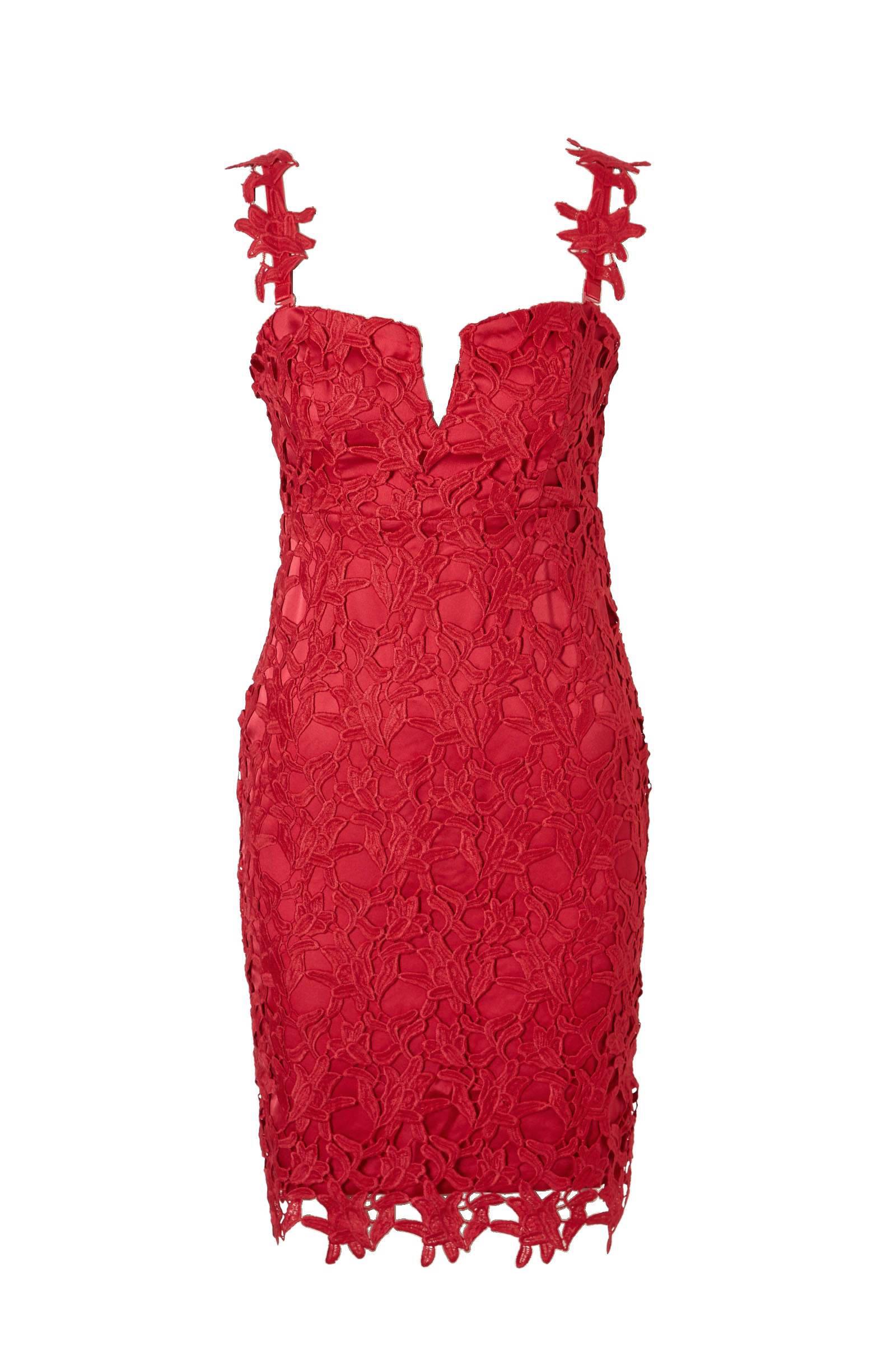 be7387491e9c6e GUESS Phoebe kanten jurk