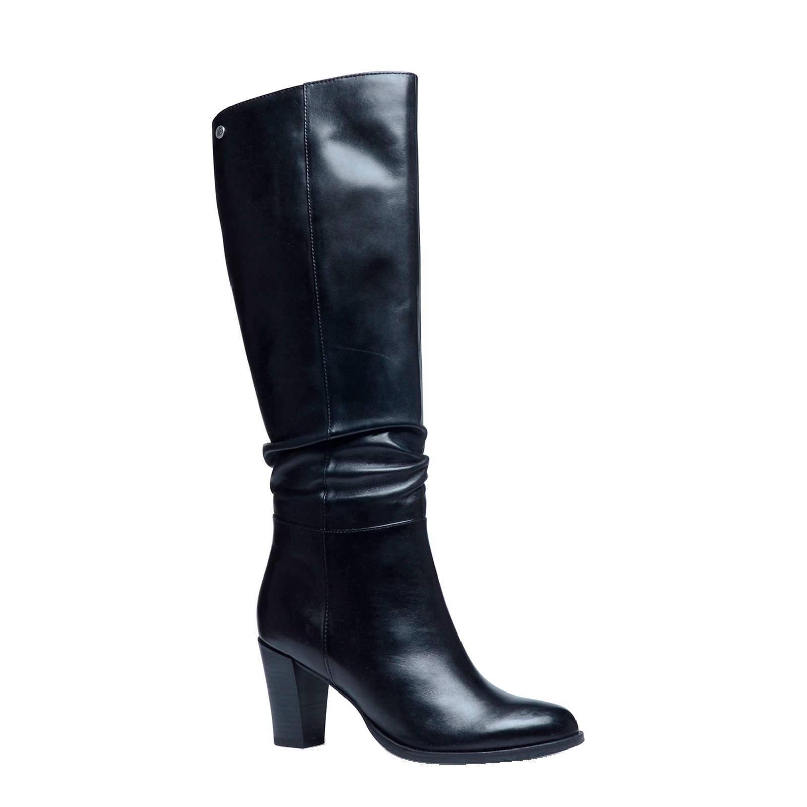 zwarte leren laarzen