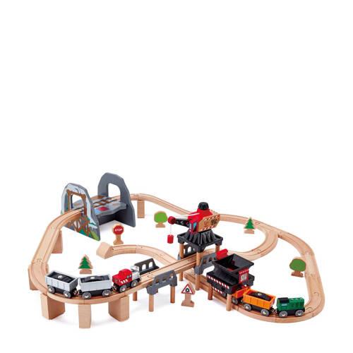 Hape houten mijnbouw treinset kopen