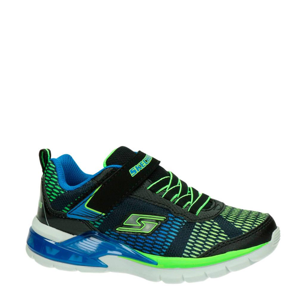 Skechers   sneakers, Zwart/blauw/groen