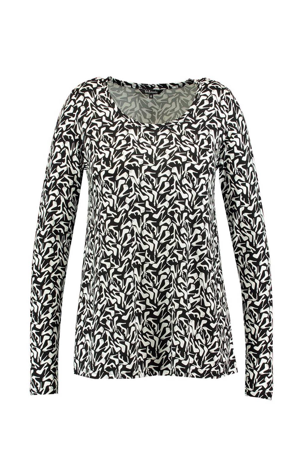 MS Mode top, Zwart/wit