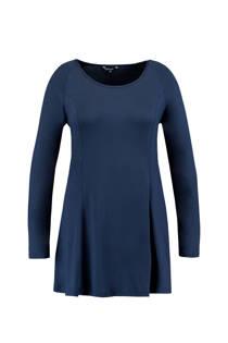 MS Mode tuniek met ronde hals donkerblauw (dames)