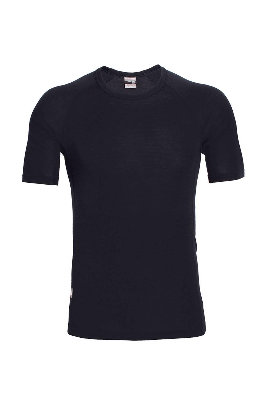 Icebreaker Everyday Crewe merino wollen thermo T-shirt, Zwart