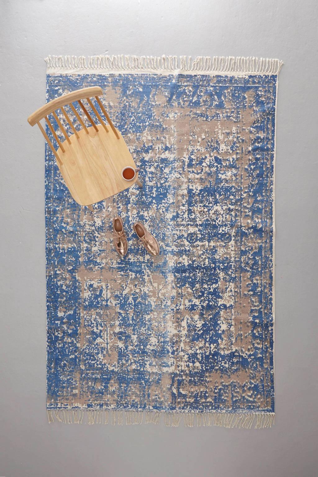 whkmp's own vloerkleed  (230x160), Blauw/beige