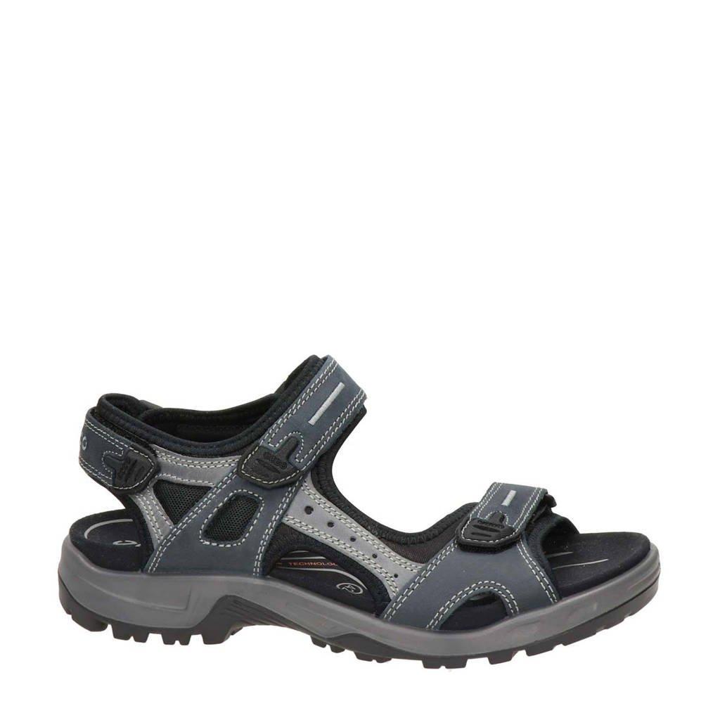 Ecco Offroad  leren outdoor sandalen antraciet, Antraciet