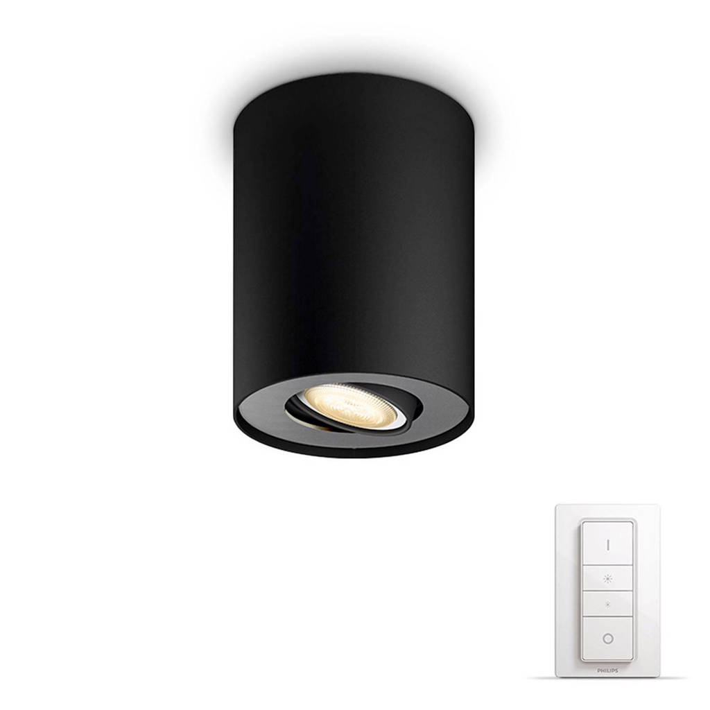 Philips Hue plafondspot Pillar (incl dimmer), Zwart