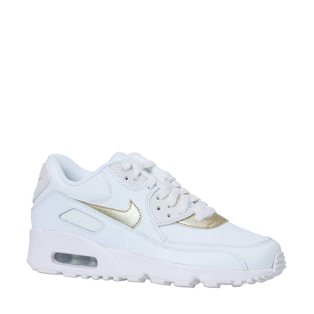 2d7a243f369 Nike Nike Air MAx 90 LTR GS sneakers, Wit/goud