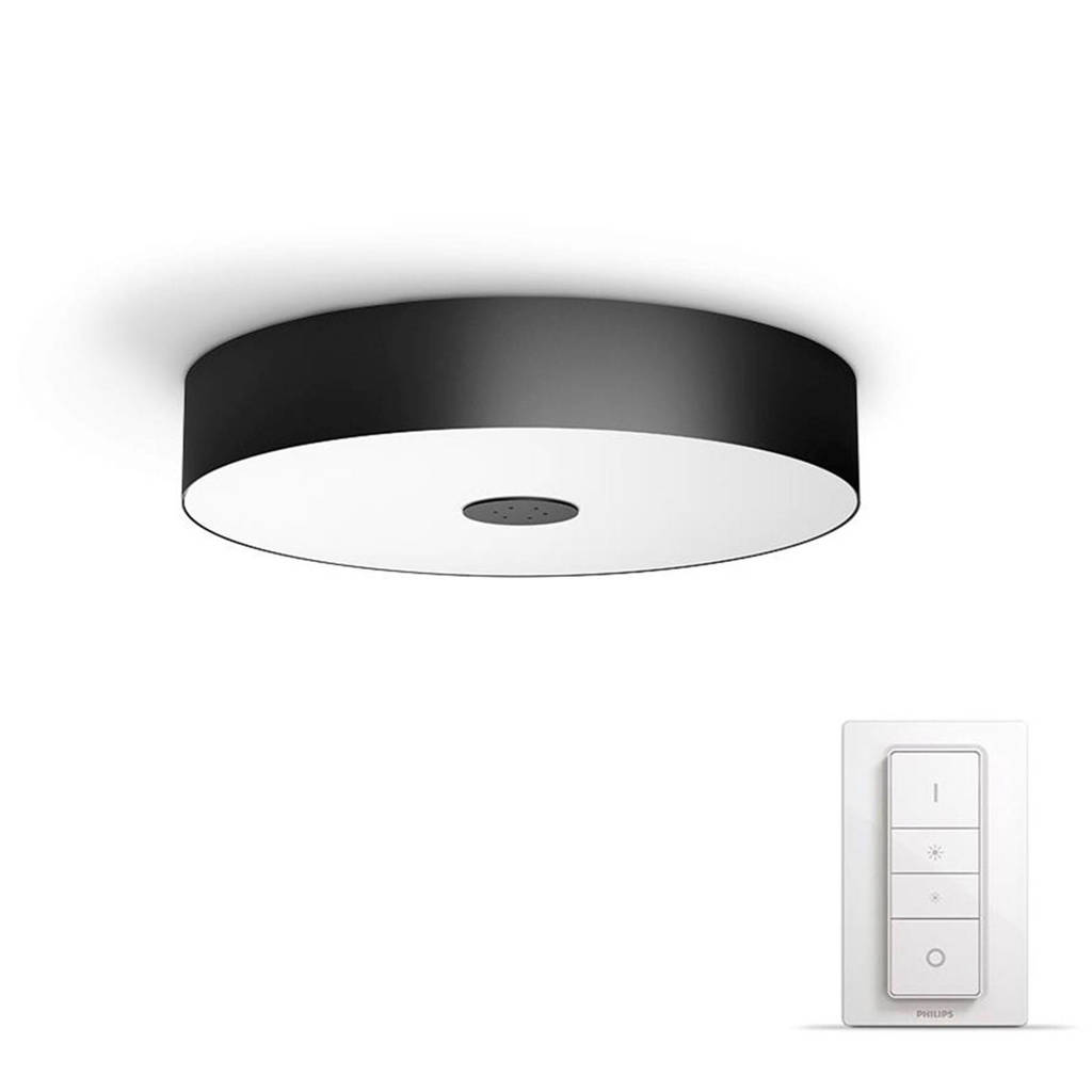 Philips Hue plafondlamp Fair, Zwart/wit