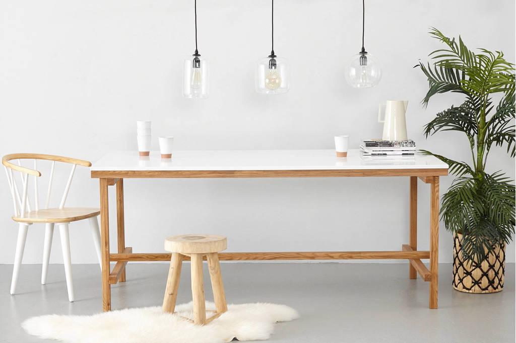 whkmp's own eettafel Construction 160 cm, wit, eiken