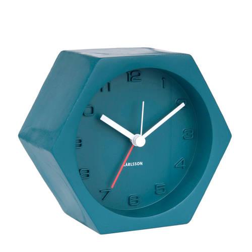 Karlsson Klokken alarmklok Hexagon (11,5 cm) kopen