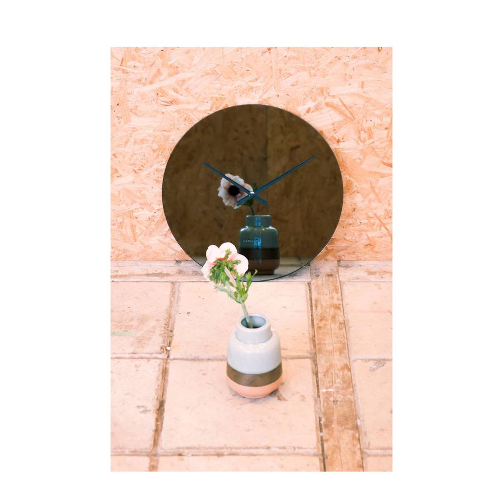 Karlsson Klokken wandklok Mirage (Ø40 cm), Zwart